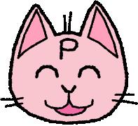 ピーネコ笑顔中
